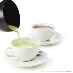 Green tea and hot Chocolate